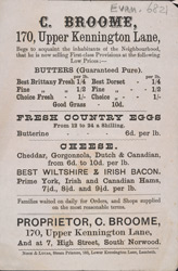Advert For C Broome, Dairy Produce